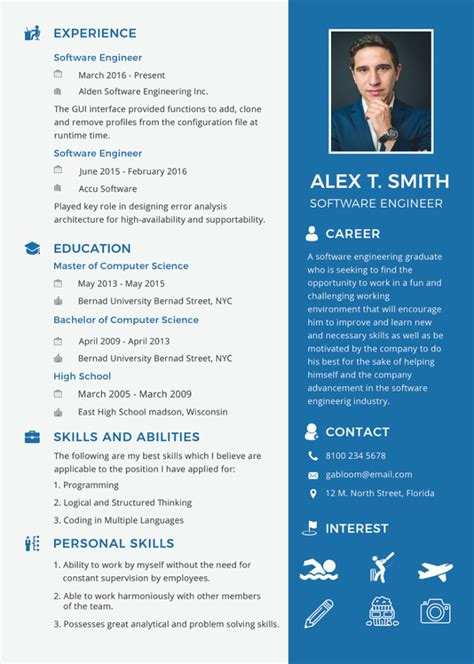 software engineer resume template 46 blank resume templates doc pdf free premium templates