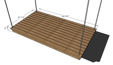 hanging daybed woodworking plans woodshop plans