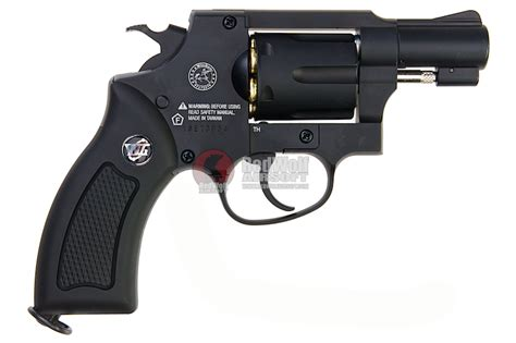 gun heaven wingun 733 2inch 6mm co2 revolver black grip