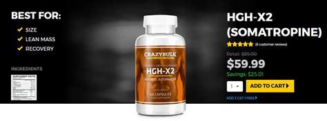 HGH-X2-SOMATROPINE - CrazyBulk's Human Growth Hormone Agent