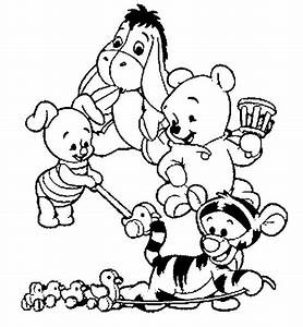 winnie the pooh and friends coloring pages - baby winnie the pooh and friends coloring pages