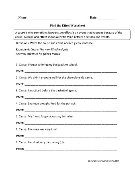 Kindergarten Cause And Effect Worksheets  Ese697 Characteristics Of Students W Mild Mod