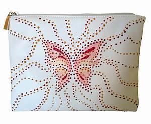 Pochette Blanche Femme : pochette vinyle blanche papillon femmes pochettes ana selena ~ Teatrodelosmanantiales.com Idées de Décoration