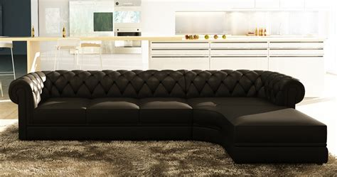 canapé chesterfield d angle deco in canape d angle noir capitonne chesterfield