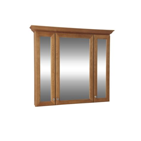 shop allen roth northrup 42 in x 37 in surface medicine cabinet at lowes