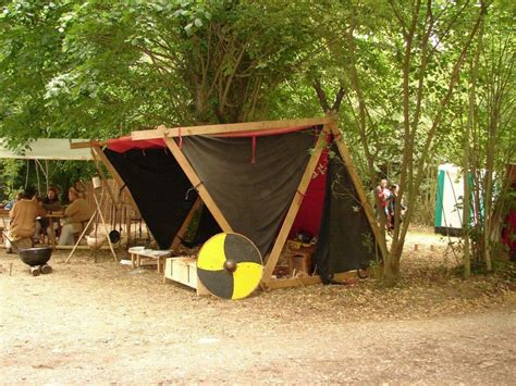 Reenactment Tent & First Aid Tent At A Reenactment In