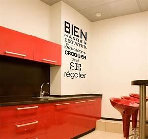 Stickers Muraux Cuisine : en cuisine citations pinterest bien manger en ~ Premium-room.com Idées de Décoration