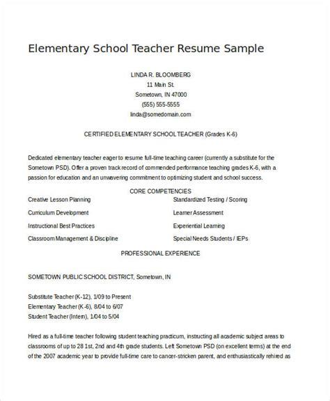 teacher resume examples   word  documents