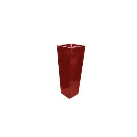 pot fibre de verre pot fibre de verre high square l36 h82 cm bordeaux plantes et jardins