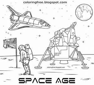 Apollo Spaceship Coloring Pages