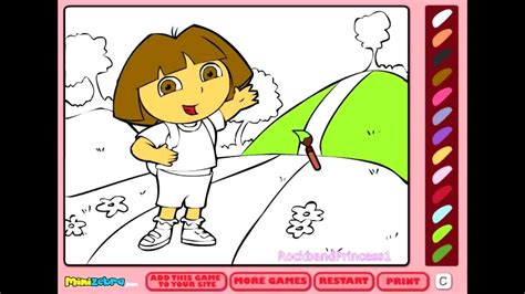 dora coloring games  coloring pages  kids