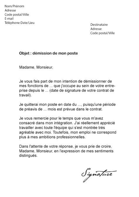 modele lettre demission suivi conjoint modele lettre de demission chauffeur routier document