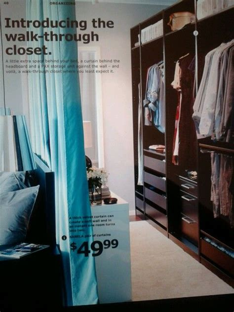 Walk In Closet Curtain by Hang Curtain Bed To Create Faux Walk In Closet
