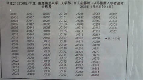 慶應 大学 合格 発表
