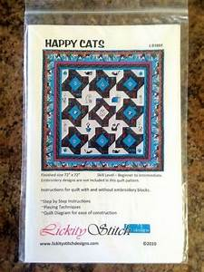 Happy Cats Quilt Instructions Techniques Diagrams By