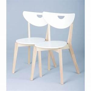 Chaise En Bois Blanc : chaise de cuisine en bois blanc 5 id es de d coration int rieure french decor ~ Teatrodelosmanantiales.com Idées de Décoration
