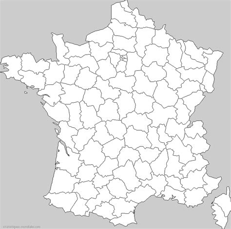 Carte De Département Et Région Vierge by Carte D 195 169 Partement Vierge