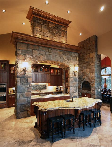Beautiful English Rubble Kitchen  Coronado Stone Veneer