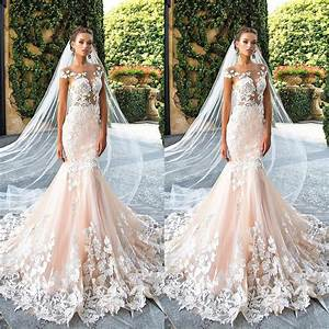 fashion trend blush pink chic wedding dresses 2017 long With colored wedding dresses 2017
