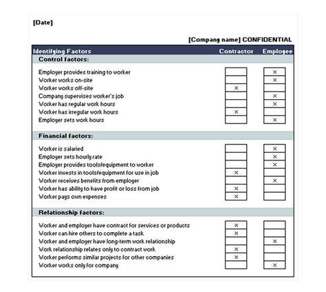 independent contractor checklist contractor checklist