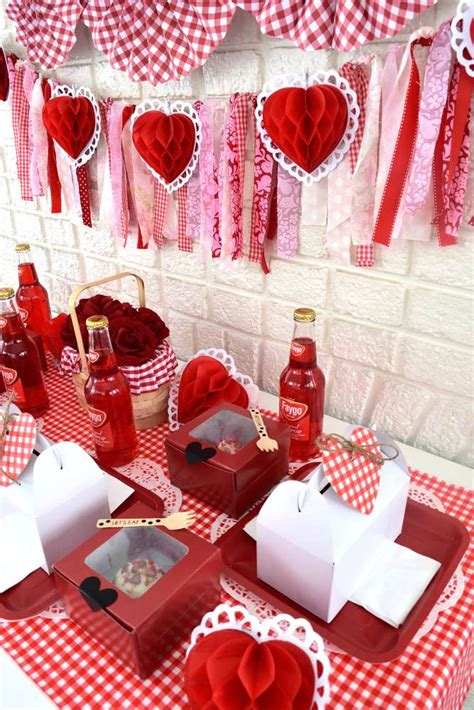 valentine picnic party valentines day party ideas photo