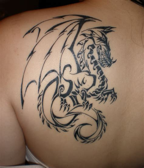Tribal Dragon Tattoo3d Tattoos