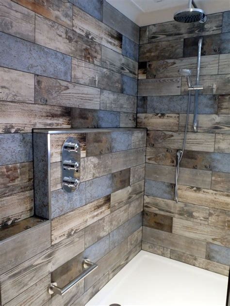 Wood Tiles In Bathroom by Customer Style Focus S Reclaimed Wood Bathroom