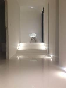 Resine Sol Blanc Brillant : peinture de sol laque epoxy pour beton 19 couleurs ~ Premium-room.com Idées de Décoration