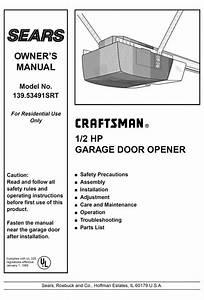 Garage Door Opener Owner U0026 39 S Manual