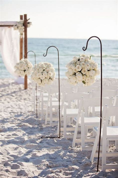 50 Beach Wedding Aisle Decoration Ideas #Goals Beach