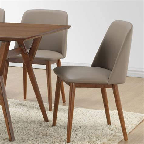 baxton studio lavin beige faux leather upholstered dining
