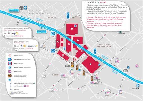 paris expo porte de versailles map map  paris expo