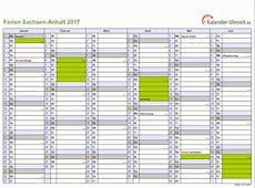 Ferien SachsenAnhalt 2017 Ferienkalender zum Ausdrucken