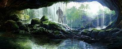 Dual Screen Monitor Grotto Wallpapers Cool Cry