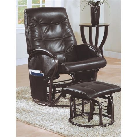 leather swivel recliner with ottoman monarch swivel rocker faux leather recliner with ottoman