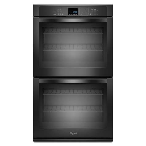 wall oven cabinet lowes shop whirlpool self cleaning double electric wall oven