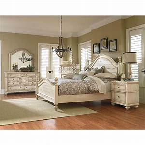 Heritage Antique White 6-Piece King Bedroom Set
