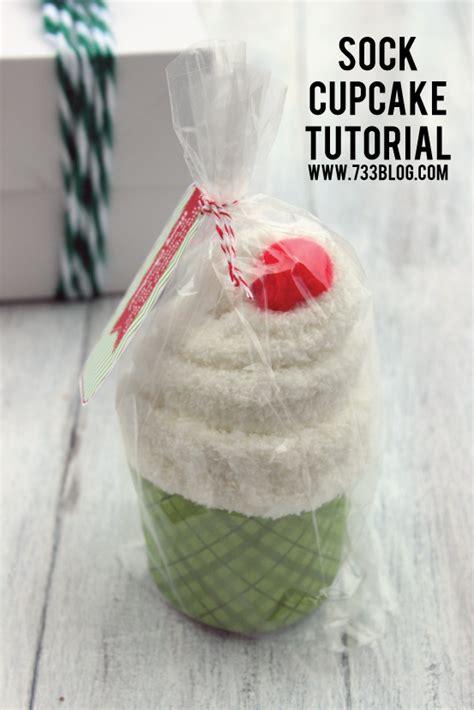 christmas gift ideas with socks sock cupcake tutorial inspiration made simple