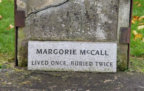 Video Margorie Mccall Who 'lived Once And Was Buried