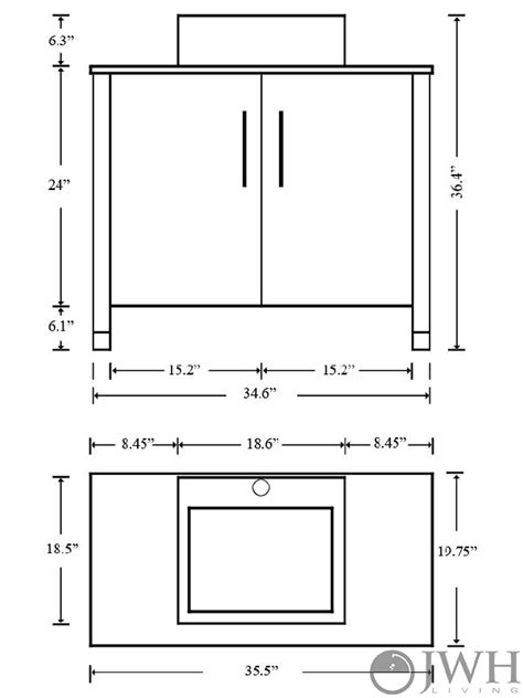 Bathroom Vanity Tower Dimensions by 35 5 Quot Gemini Single Bathroom Vanity Espresso Bathgems