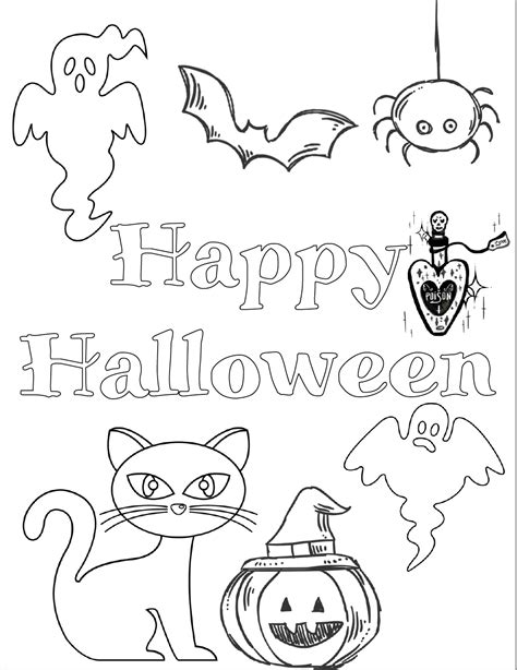 printable halloween coloring pages  kids
