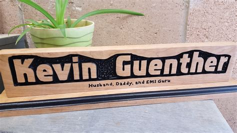 wooden name signs for desk hand crafted routed personalized name custom wood sign