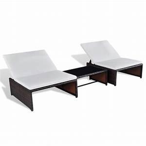 Rattan 2 Sitzer : poly rattan 2 sitzer lounge set verstellbarer r ckenlehne braun g nstig kaufen ~ Whattoseeinmadrid.com Haus und Dekorationen