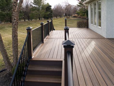 evergrain decking vs trex composite decking railing evergrain envision vinyl