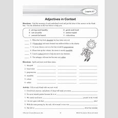 Adjectives In Context  Education World
