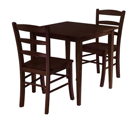 kitchen tables furniture winsome groveland 3pc square dining table with 2 chairs by oj commerce 94332a 193 26