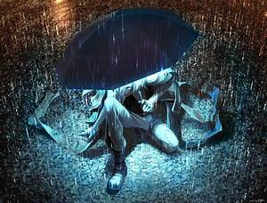 Artwork, Fantasy, Art, Anime, Rain, Umbrella, Original, Characters, Wallpapers, Hd, Desktop, And