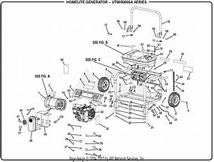 Homelite Ut905000sa 5000 Watt Generator Parts Diagram For General Assembly