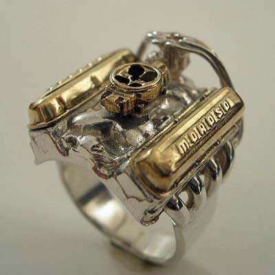 jewelry  gearheads engine ring  galleries