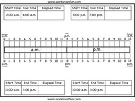 time worksheets images math printable